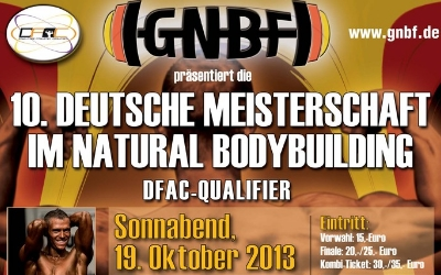 10. GNBF e. V. Deutsche Natural Bodybuilding-Meisterschaft