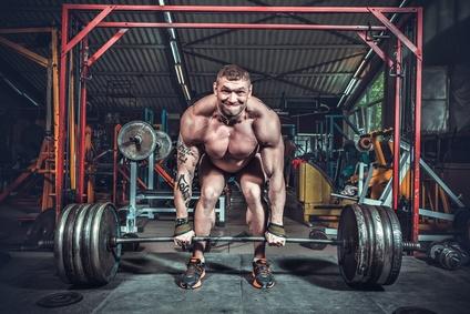 Muskelmasse mit Teilwiederholungen